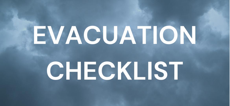 Evacuation Checklist