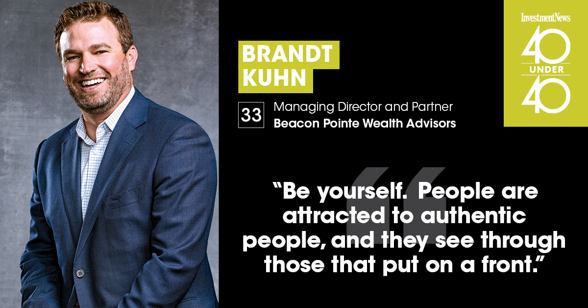 Brandt Kuhn Named to InvestmentNews 40 Under 40