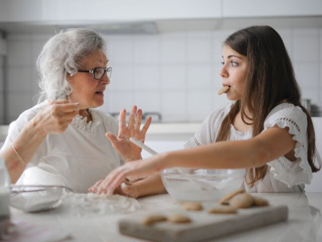 Grandmother & Granddaughter Baking