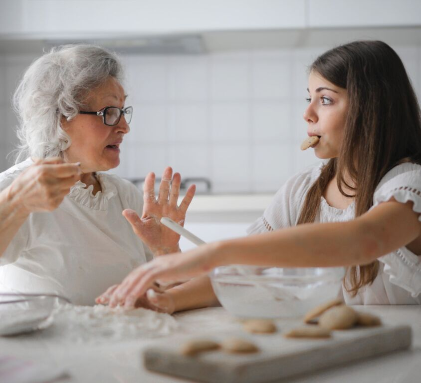 Grandmother & Granddaughter Baking